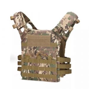 Black Gun Owners Association - Camouflage Molle Plate Carrier