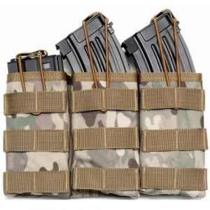 Black Gun Owners Association - Triple Open Top Mag Pouch Camouflage